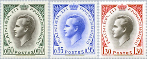 EBS MONACO 1964 - Rainier III - Prince Raindeer - YT 549A/574a MNH**