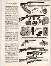 1960 PAPER AD Toy Guns Rifles Fury Machine Jet Automatic Daisy Smoke Slaughter