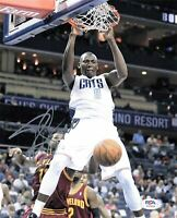 Bismack Biyombo signed 8x10 photo PSA/DNA Charlotte Bobcats/Hornets Autographed