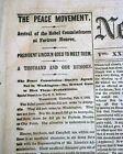 PEACE CONFERENCE Abraham Lincoln & Seward at Fort Monroe1865 Civil War Newspaper