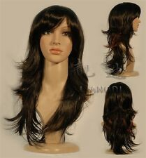 HELLOJF40   Vogue pretty dark brown long hair Wig  wigs for women