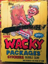 1985 TOPPS WACKY PACKAGES STICKERS BOX UNOPENED BOX 48 PACKS