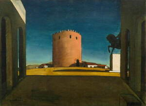 Giorgio de Chirico The Red Tower Giclee Canvas Print Paintings Poster LARGE SIZE