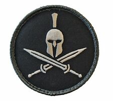 Morale Patch -SPARTAN Shield with HELMET / Crossed Swords - SWAT color pattern