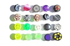 20 x 10mm various style ear tunnels plugs acrylic steel Stretcher Expander Flesh