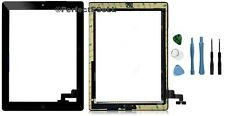 Touch Screen Glass Panel with Digitizer Buttons Adhesive for iPad 2 Black