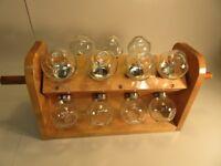Vintage Spinning Glass Jar  Storage or Display