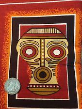 "Fabric African Free Trade Africa Art 12 Squares = 1 Panel 12"" x 44"" BIN"