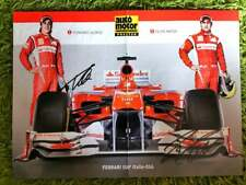 Fernando Alonso 2X F1 WORLD CHAMPION Felipe Massa signed FERRARI poster A/3