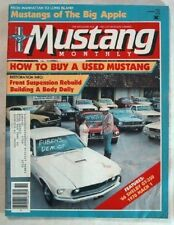 MUSTANG MONTHLY 1985 NOV - GT350s, BODY DOLLY, NYC