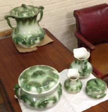Antique Victorian HAYNES BALTIMORE Stoneware Chamber Pot Set