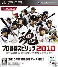 Used PS3 Pro Yakyuu Spirits 2010 SONY PLAYSTATION 3 JAPAN JAPANESE IMPORT