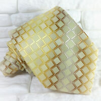 Krawatte seide Gold Bronze Silver Jacquard  Made in Italy hochzeit business € 40