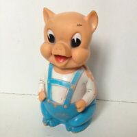 """vintage PIG SOFT RUBBER 9"""" 1950s  MAYBE PORKY PIG LOONEY TUNES"""
