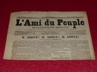 [PRESSE XIXe] MAXIME LISBONNE / L'AMI DU PEUPLE # 8 -2e S. JEU 26 FEV 1885 Rare!