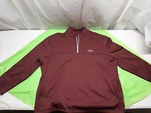Callaway - Men's Golf Jacket XXL Maroon Weather Series - 1/4 Zip 2XL
