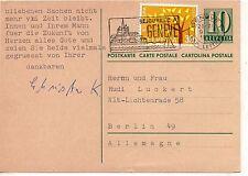 Suiza entero postal circulado Ginebra Berlin año 1963 (DE-754)