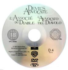 Devil's Advocate DVD R2 PAL Al Pacino Keanu Reeves Film Thriller Movie DISC ONLY