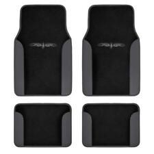 Car Floor Mats Carpet Tattoo Design 2-Tone Color Liner 4 Piece Dark Gray/ Black
