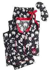 Victoria's Secret Dreamer Flannel Pajamas PJ Set Dancing Polar Bear Top Bottom S