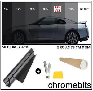CAR VAN BUS WINDOW TINT FILM TINTING MEDIUM BLACK SMOKE 35% 76cm x 6M