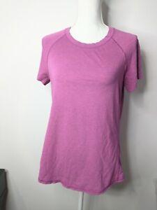 Size 8 Lululemon Anahatasana Short Sleeve Tee Heathered Ultra Violet