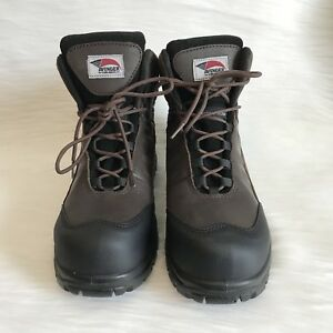 Avenger Safety Footwear Men's Work Boots Brown leather A7296 size 12 M New