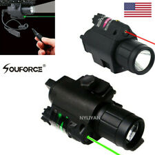 Tactical Combo Green/RED Laser Flashlight Sight LED 20mm Picatinny Rail Rifle