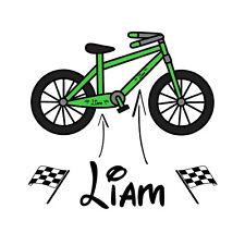 Boys Personalised Name Bike Frame Vinyl Decal Sticker Childs Kids Bicycle Trike