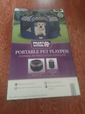 Heart To Tail Portable Pet Playpen for small/medium dogs w/Instructions