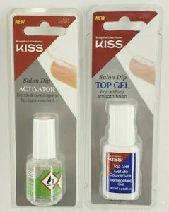 KISS Salon Dip Activator & Top Gel NO UV LIGHT NEEDED - NEW