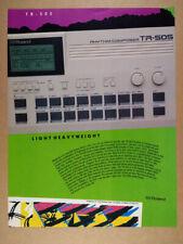 1986 Roland TR-505 Rhythm Composer Drum Machine vintage print Ad