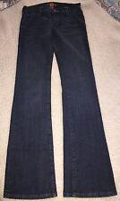 Used Women's Arden B Low Rise Jeans Dark Denim Size 25 Bootcut