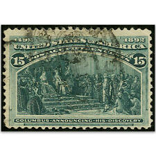 More details for u.s.a.  s.g.243 1893 columbus 15c green  used