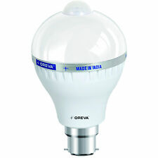 6W OREVA BRANDED COOL WHITE LED BULB LAMP WITH SENSOR AUTO ON-OFF B22D 465LUMEN