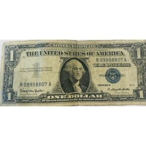 1957 Silver Certificate, Heavily Circulated