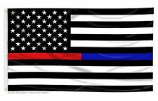 USA Thin Blue Line and Red Line Law Enforcement Police Fire EMS HEROS 3'x5' Flag