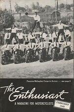 1949 February - The Enthusiast - Vintage Harley-Davidson Motorcycle Magazine