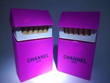 Rose pink channel rubber cigarette case cover girl love soft cigarette box