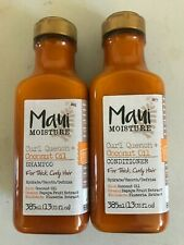 Maui Moisture Curl Quench Coconut Oil SHAMPOO & CONDITIONER for THICK CURLY HAIR