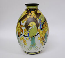 Charles Catteau - Boch Frères Keramis Vase WD 1130 Stylized decoration of birds