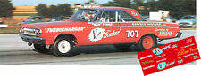 CD_MM_043 Bud Faubel  1965 Dodge Coronet    1:18 scale decals ~NEW~