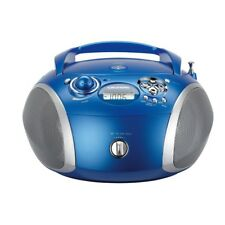 Grundig RCD 1445 USB blau/silber Radio mit CD-Player/MP3- WMA-Wiedergabe