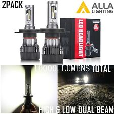 AllaLighting 9003 H4 HB2 LED Headlight Conversion Kit Replace High Low Beam Bulb