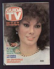 GUIDA TV MONDADORI 37/1981 EDWIGE FENECH PROGRAMMI TELESTUDIO TELELAZIO PIN EURO
