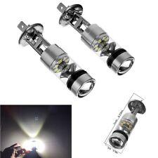 2X DC 12 V H1 auto Blanc 100 W 2323 ampoules à DEL 20pcs Voiture Brouillard Lumière DRL conduite Lampe