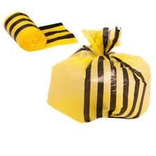 25 Yellow Large Tiger Stripe Waste Bags - CHSA 15kg 80l