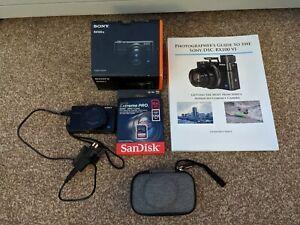 NEW Sony DSC RX100 VI Cyber Shot Digital Camera Kit With Case Book & 64GB Card