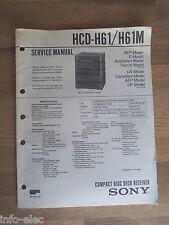Schema SONY - Service Manual Compact Disc Deck Receiver HCD-H61 HCD-H61M