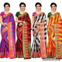 Bollywood Pakistani Designer cotton silk saree indian KANCHIPURAM Traditional SC